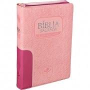 BÍBLIA SAGRADA LETRA GIGANTE COM ZÍPER REVISTA E ATUALIZADA