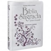 BÍBLIA SAGRADA LETRA GRANDE CAPA BRANCA REVISTA E ATUALIZADA