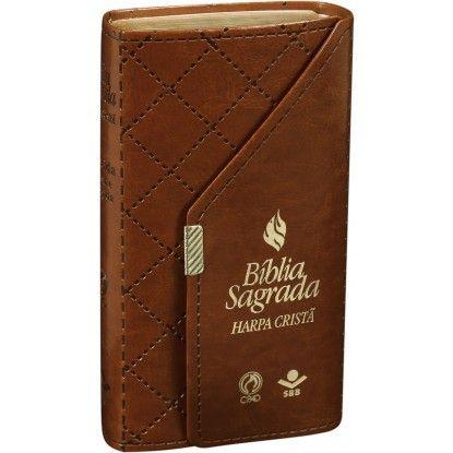 Bíblia Carteira com Harpa Cristã Bíblia - MARROM