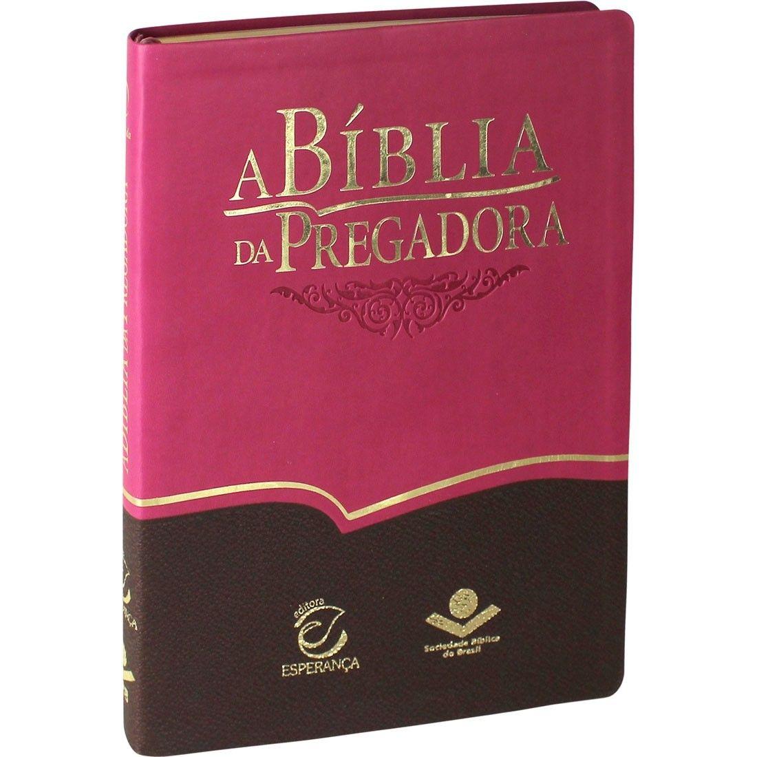 BÍBLIA DA PREGADORA - ROSA E MARROM