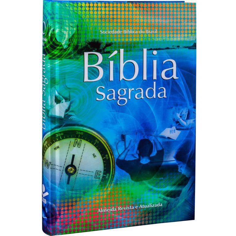 BÍBLIA SAGRADA CAPA DURA COLORIDA REVISTA E ATUALIZADA