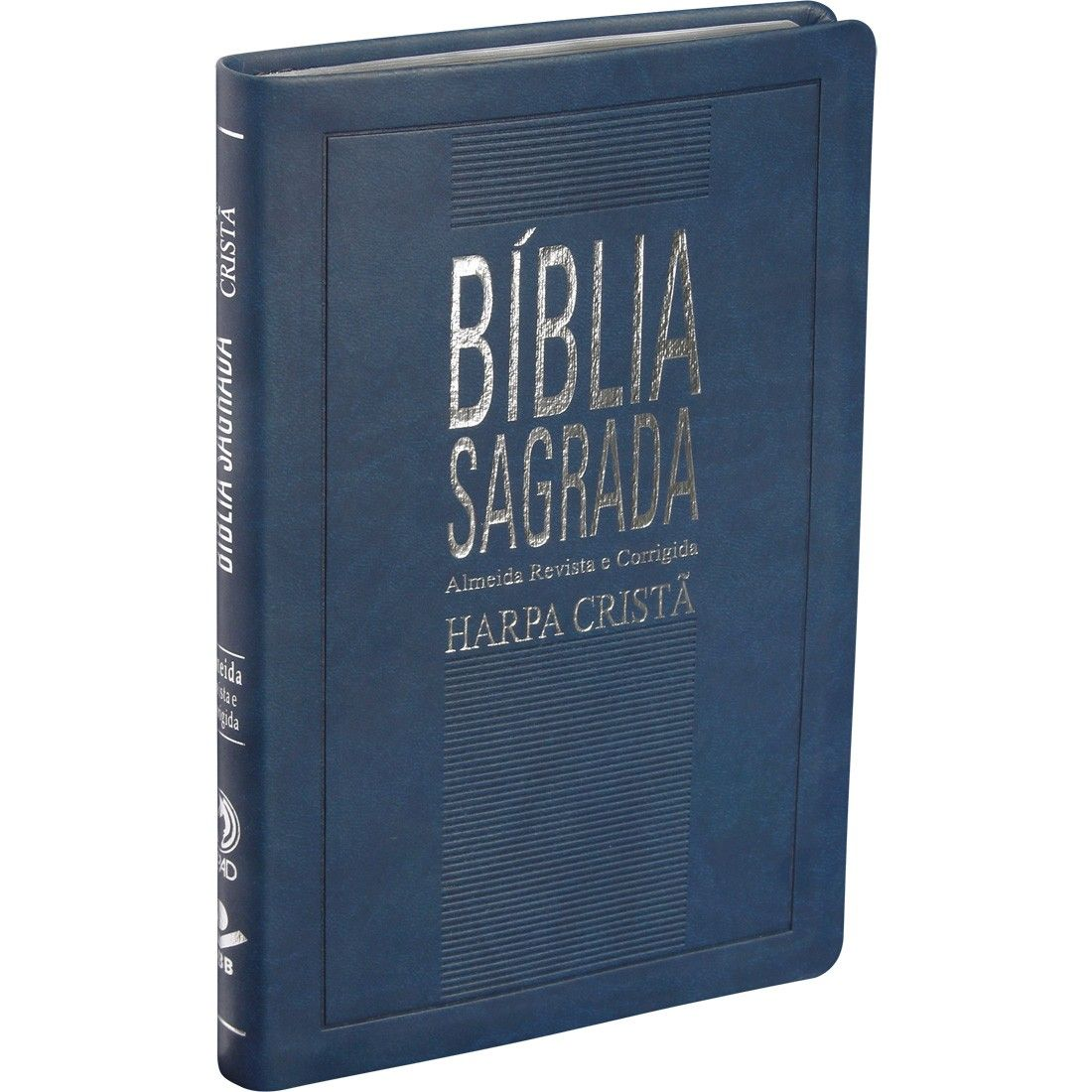 BÍBLIA SAGRADA COM HARPA CRISTÃ SLIM AZUL