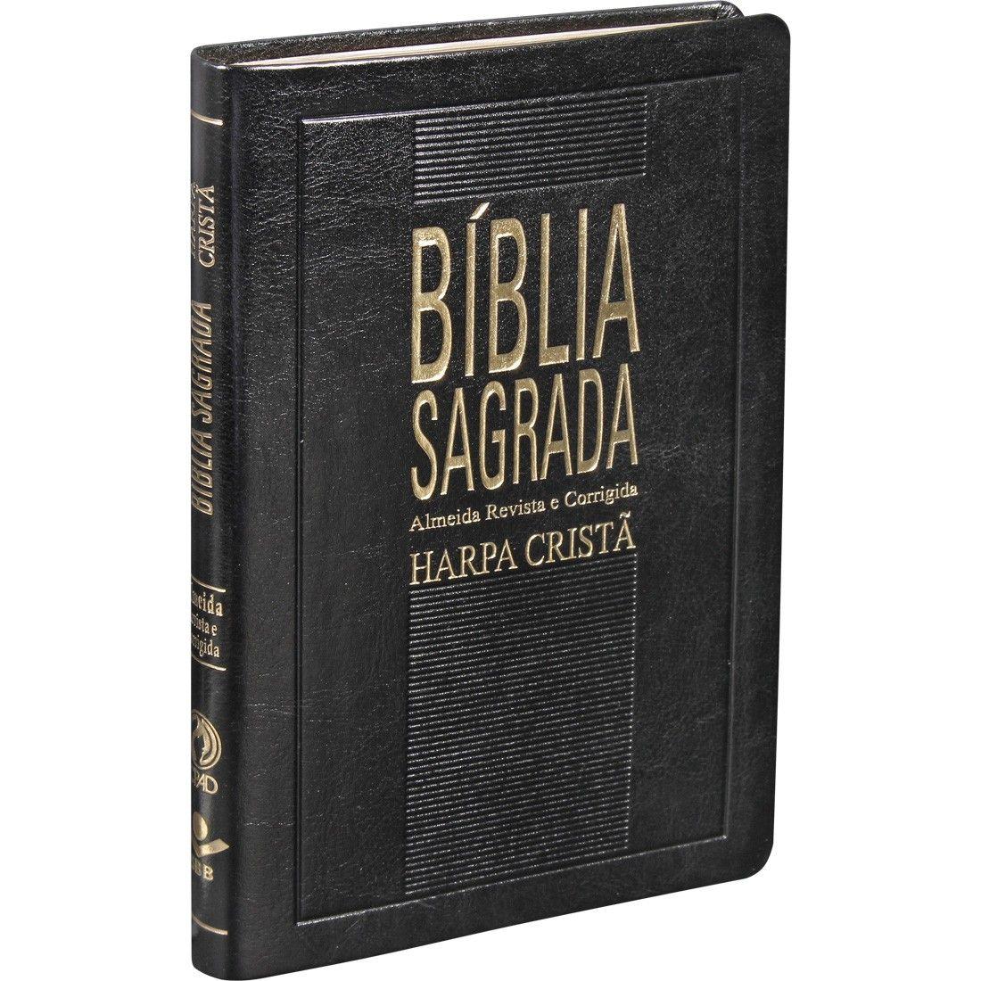 BÍBLIA SAGRADA COM HARPA CRISTÃ SLIM - PRETA