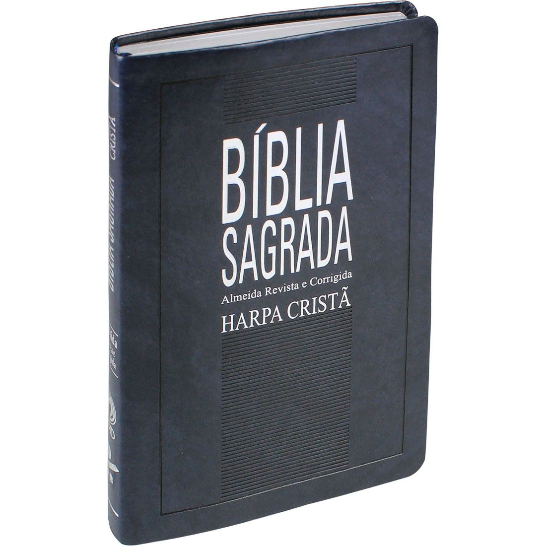 BÍBLIA SAGRADA COM HARPA CRISTÃ SLIM - AZUL ESCURO