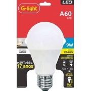 Lâmpadas Led Bulbo 9w E27 G-Light 6500k Bivolt -  (à vista)
