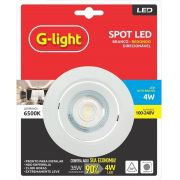Spot Led Direcionável Redondo 4w 6500k - G-light (à vista)