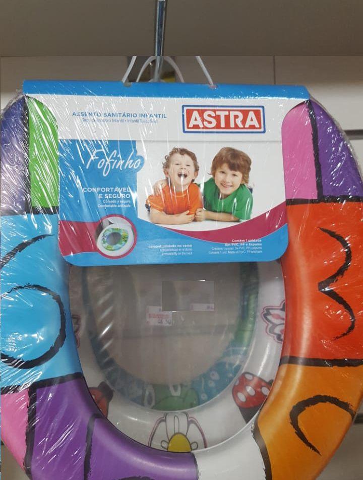 Assento Sanitário Infantil Almofadado Astra Fofinho