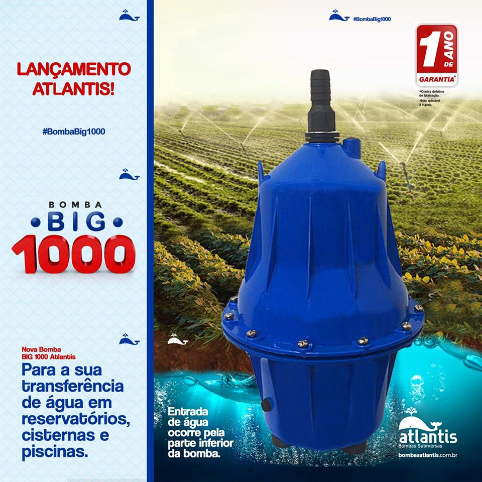 BOMBA ATLANTIS BIG 1000 127V