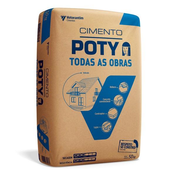 Cimento Poty saco 50 Kg - (à vista) - (Entrega em Ubaíra - Zona Urbana)