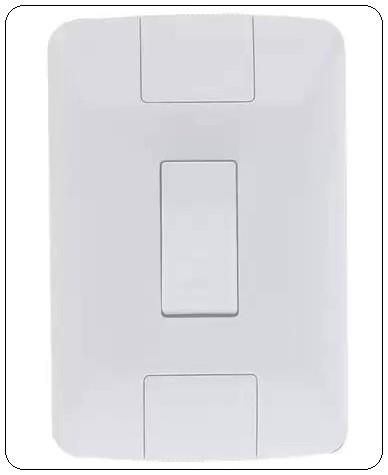 Conjunto 4x2 Interruptor Pulsador Campainha 6a -  Tramontina