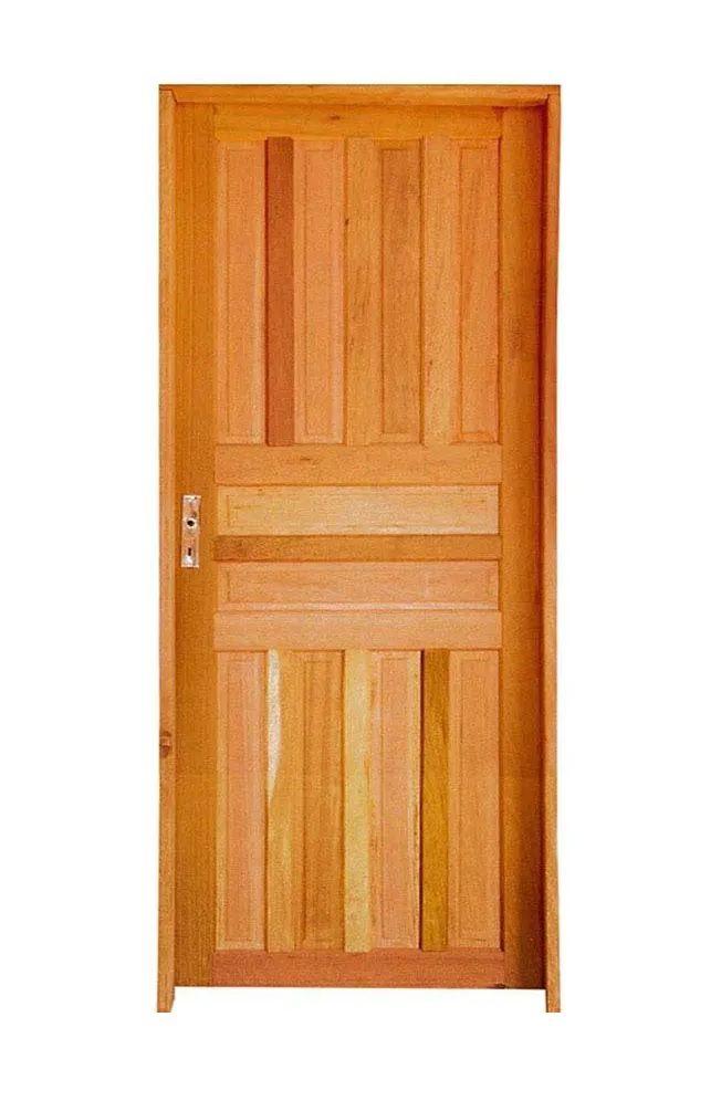 Folha de porta de madeira mista 210x80 cm