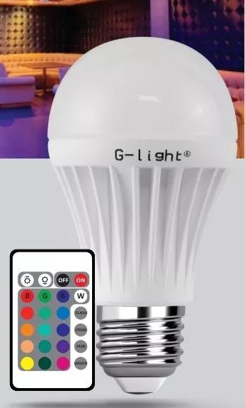 Lâmpada Led Bulbo Rgb 3w Colorida Controle Remoto G-light
