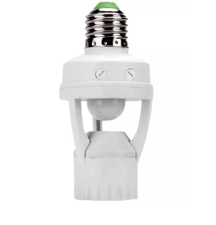 Sensor Presença 360° C/ Fotocélula P/ Lâmpada Soquete E27