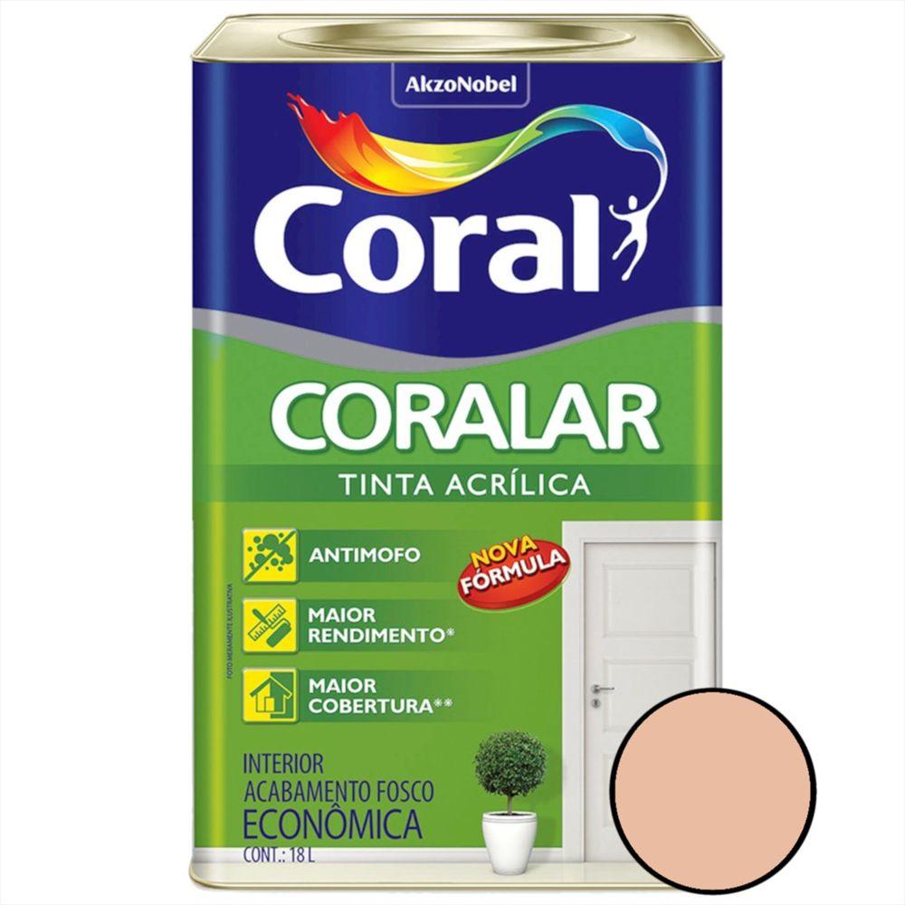 Tinta Acrílica Coralar Pêssego 18 Litros - CORAL
