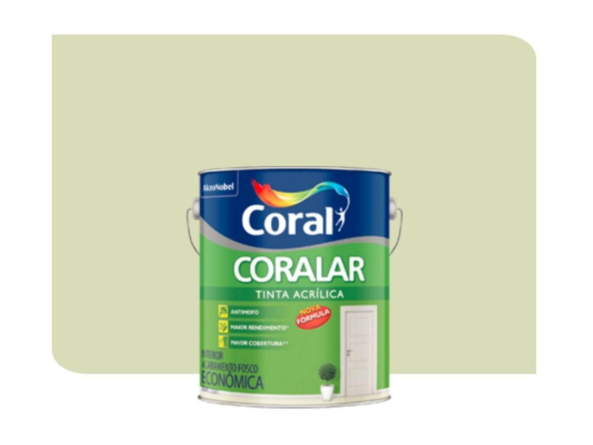 TINTA ACRÍLICA FOSCA CORALAR VERDE VALE 3,6L - CORAL