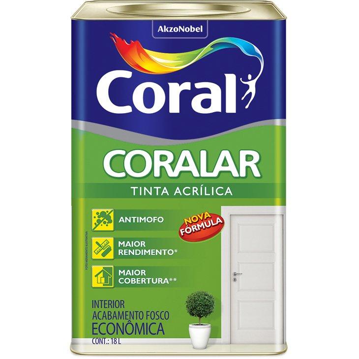 Tinta Coral Acrílica Coralar, Código 5206990, Branco