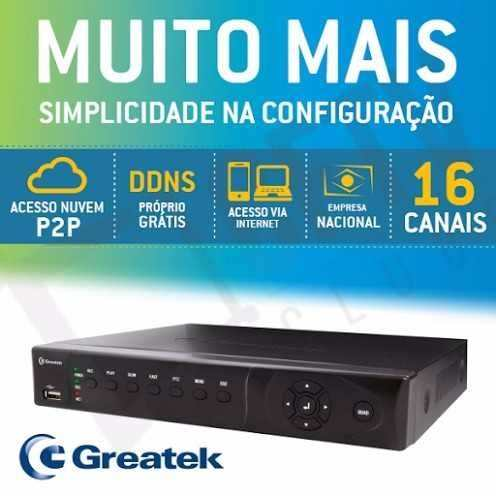 Kit Cftv 8 Cam Infra + Hd 1tb Dvr Greatek + Monitor Completo