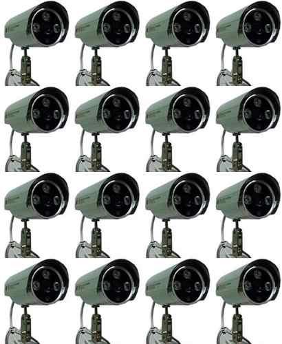 Kit 16 Câmeras Infravermelho 2000 Linhas Filtro Ir Cut 50mts