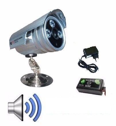 Câmera Segurança Infrared Ir-cut 2000 linhas com áudio e fonte.