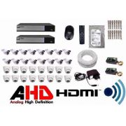 Kit Cftv Dvr Luxvision 32 Cameras Infra Ahd 1.3 Mp Ir Cut
