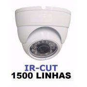 Camera Dome Branca Infrared 1500 Linhas Com Ir-cut Com Fonte