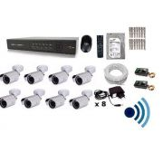 Kit Monitoramento 8 Cam Infra Ir-cut Dvr 16 Canais + Audio