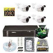 Kit Dvr 4 Canais Multi Hd Intelbras Câmeras 2 Mega Full Hd