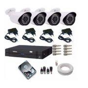 Kit Câmeras De Segurança Residencial Dvr Intelbras 1004 G3