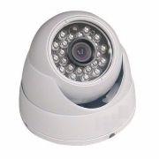 Camera Dome Branca Infrared 1200 Linhas Com Ir-cut Com Fonte