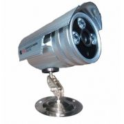 Camera Prata Cftv 3 Big Leds Infra Red Visão Noturna