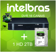Dvr Intelbras 16 Canais Mhdx 1016 Hdcvi Ahd Hdtvi com HD 2tb