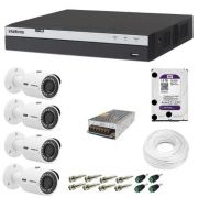 Kit 4 Cameras Vhd 3230b Full Hd 1080p Dvr 3108 8ch Intelbras