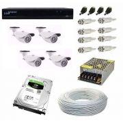 Kit Cftv 4 Câmeras Hd 960p 2mp Dvr Luxvision 5x1 Com Hd