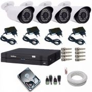 Kit Cftv 8 Cameras 1080p Hd Ir +dvr 8 Ch Intelbras Full Hd