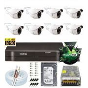 Kit Intelbras 8 Cam Multi Hd + Dvr 8ch Mhdx 1008 G3 Hd1tb
