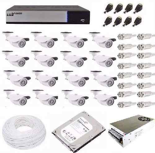 Kit Cftv Hd Luxvision Dvr 16 Ch 32 Câmeras Ahd 1.3mp