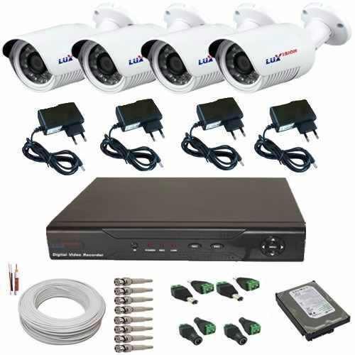 Kit Cftv 4 Câmeras Luxvision Alta Resolução Ahd - Megapixel