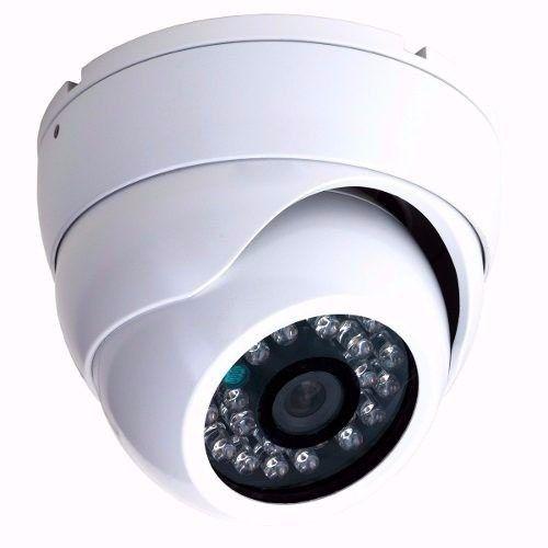 Kit 10 Cameras Dome Branca Infravermelho 1500 Linhas + Fonte