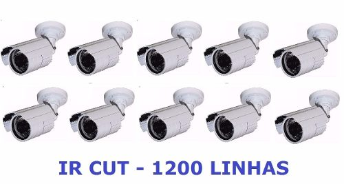Kit 10 Cameras Cftv Infravermelho Infrared Ir Cut 1500 Linha