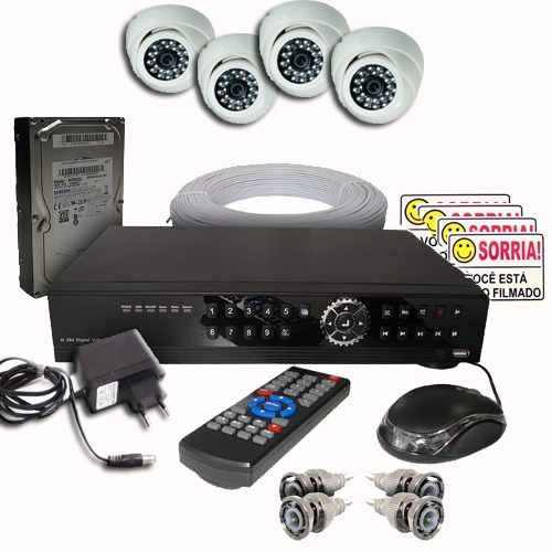 Kit Câmeras De Segurança Residencial  Internet - Cameras Hd