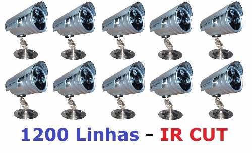 Kit 10 Câmera Infravermelho 2000 Linhas Ir Cut 3 Array Ref21