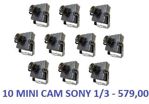 10 Mini Câmeras Ccd Digital 1/3 1000 Linhas D/n Color