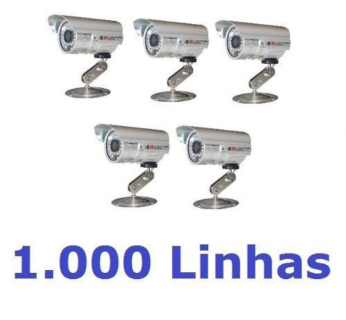 5 Cameras Cftv Infravermelho Ccd Digital 1000l 40mts