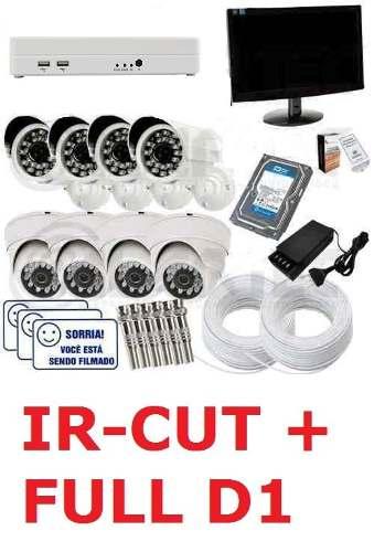 Kit Monitoramento Cftv 8 Cam Infra +hd 1tb +monitor Cod99