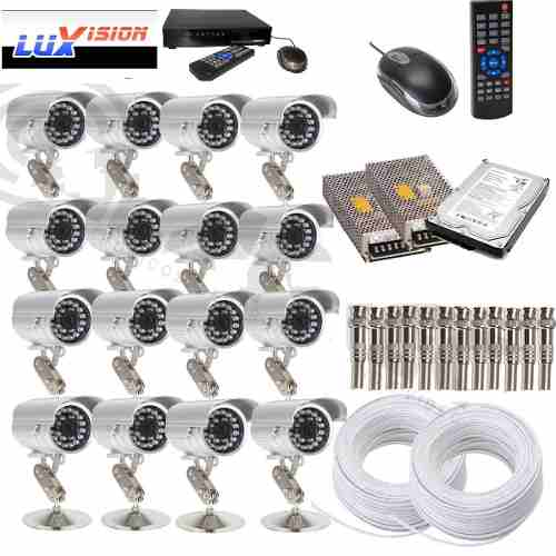 Kit Cftv 16 Cam Sony + Hd 480fps Realtime Completo Cod 2440