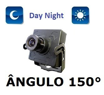 Mini Camera Ccd 1/3 Sony 1000linhas Lente 1,9mm Angulo 150°