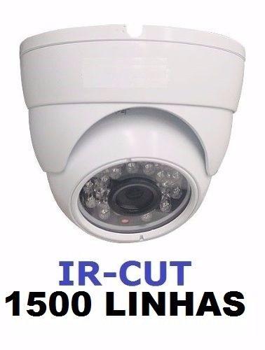 Camera Dome Infra Visao Noturna 1500 Linhas Ir-cut Com Fonte