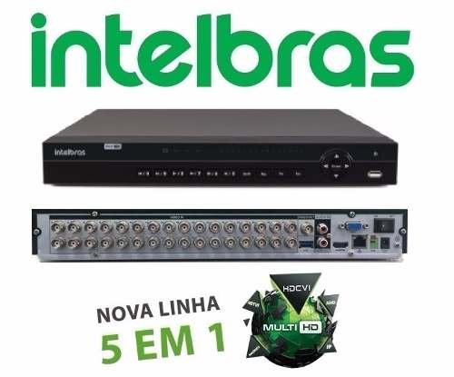 Kit Cftv Dvr 32 Canais Intelbras 1032 Ahd 32 Camera 720p