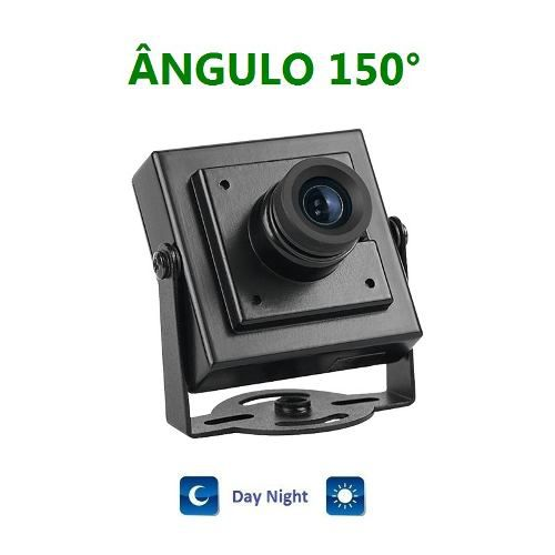 Mini Camera Ccd Day Night 1/3 1200 Linhas Maior Angulo 150°