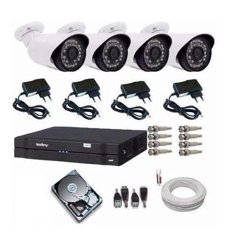 Kit Cameras De Segurança Residencial Dvr Intelbras 1004 G4